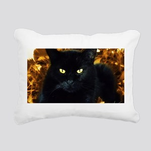 Halloween Cat Rectangular Canvas Pillow