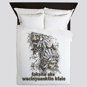 Native American Saying Queen Duvet
