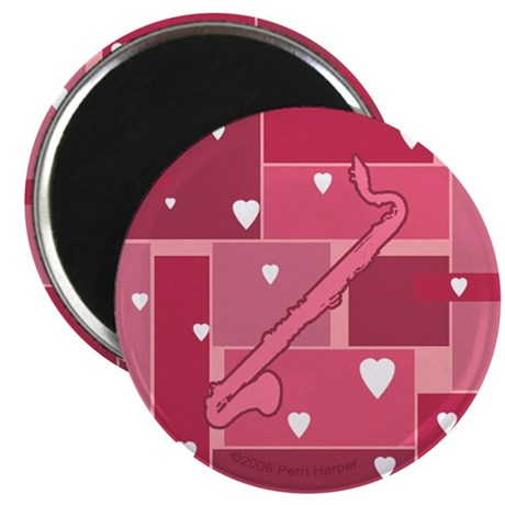 """Bass Clarinet Hearts - 2.25"""" Magnet (10 pack)"""