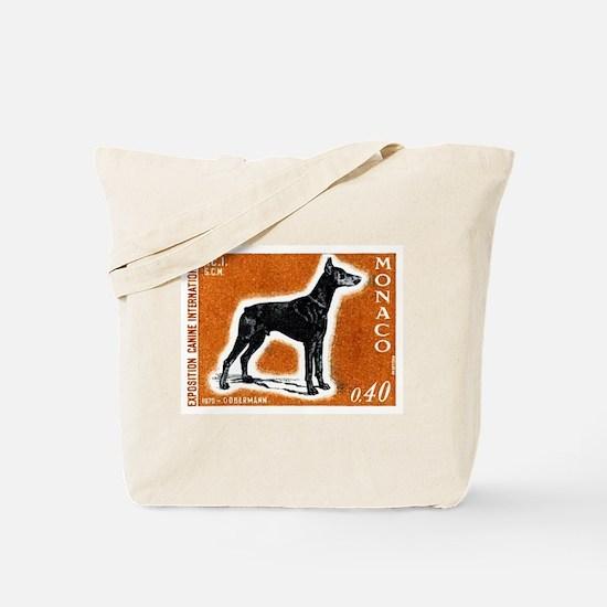 Vintage 1970 Monaco Doberman Dog Postage Stamp Tot