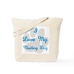 Love My Visiting Dog Tote Bag