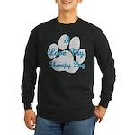 Love My Visiting Dog Long Sleeve Dark T-Shirt
