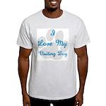 Love My Visiting Dog Ash Grey T-Shirt