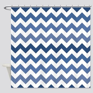 Lakeside Retreat Chevron Pattern Shower Curtain
