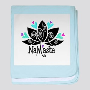 Namaste Lotus Color baby blanket