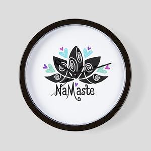 Namaste Lotus Color Wall Clock