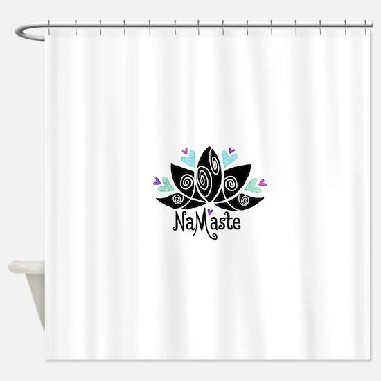 Namaste Lotus Color Shower Curtain
