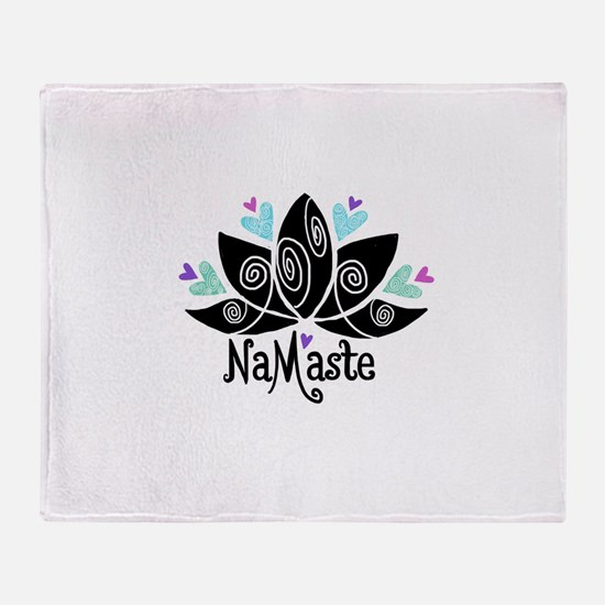 Namaste Lotus Color Throw Blanket