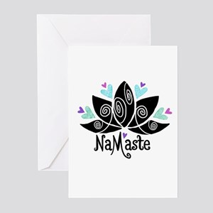 Namaste Lotus Color Greeting Cards