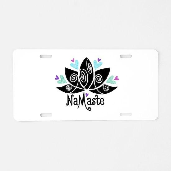 Namaste Lotus Color Aluminum License Plate