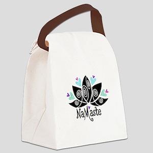 Namaste Lotus Color Canvas Lunch Bag