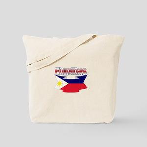 Philippines flag ribbon Tote Bag