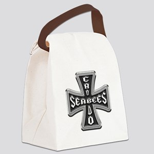 US Navy Seabees Iron Cross Canvas Lunch Bag