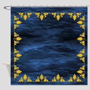 Jewel Tones Sapphire Shower Curtain
