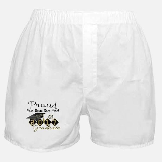 Proud 2017 Graduate Black Boxer Shorts