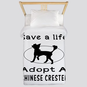 Adopt A Chinese Crested Dog Twin Duvet