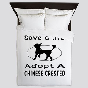 Adopt A Chinese Crested Dog Queen Duvet