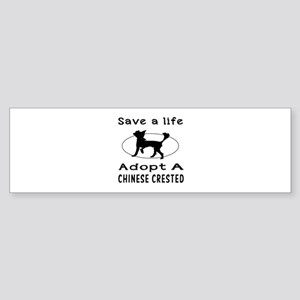 Adopt A Chinese Crested Dog Sticker (Bumper)