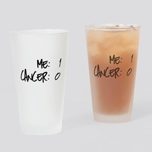 Cancer Survivor Humor Drinking Glass