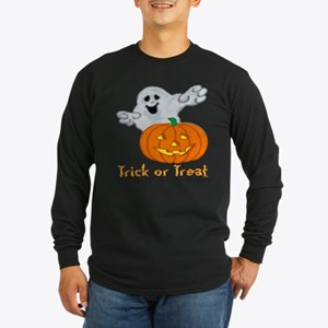 """Trick or Treat"" Long Sleeve Dark T-Shirt"