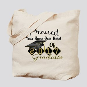 Proud 2017 Graduate Black Tote Bag