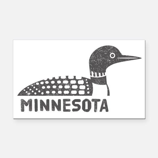 Minnesota Loon Rectangle Car Magnet