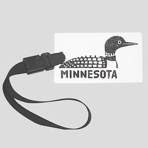 Minnesota Loon Luggage Tag