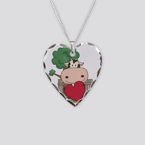 Cow Necklace Heart Charm