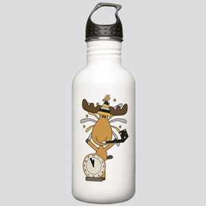 New Years moose Stainless Water Bottle 1.0L