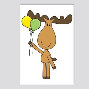 moose with balloons Postcards (Package of 8)