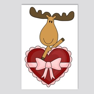 moose with heart Postcards (Package of 8)