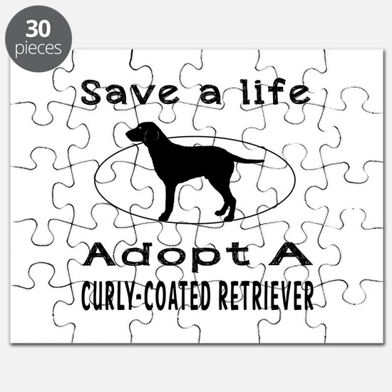 Adopt A Curly-Coated Retriever Dog Puzzle