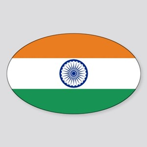 India's Flag Oval Sticker