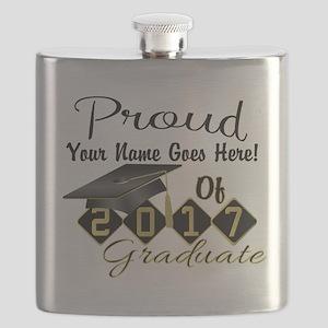 Proud 2017 Graduate Black Flask