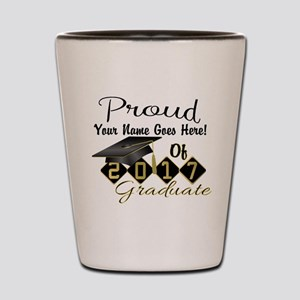 Proud 2017 Graduate Black Shot Glass