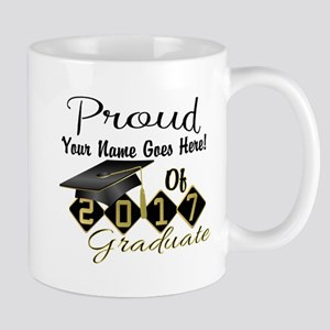Proud 2017 Graduate Black Mugs