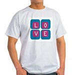 70s Squared Love | Ash Grey T-Shirt