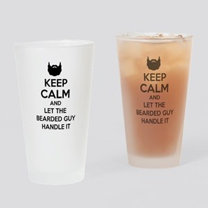 Funny Beard Tee Drinking Glass