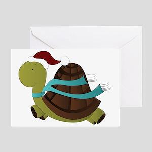 turtle santa Greeting Card
