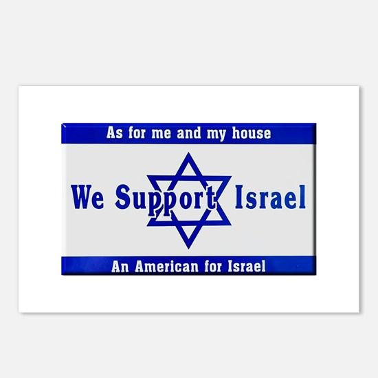 We Support Israel Postcards (Package of 8)