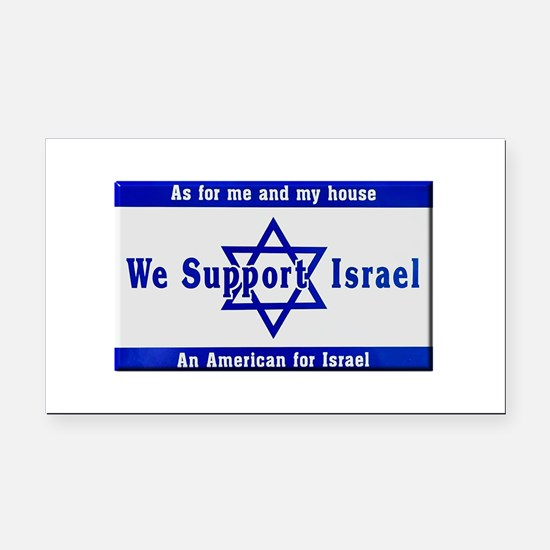 We Support Israel Rectangle Car Magnet