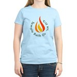 Temple Beth Or Women's Pink T-Shirt