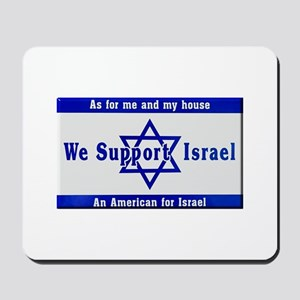 We Support Israel Mousepad