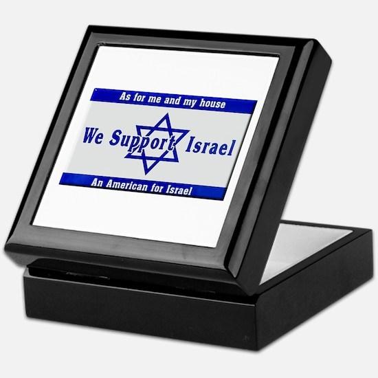 We Support Israel Keepsake Box