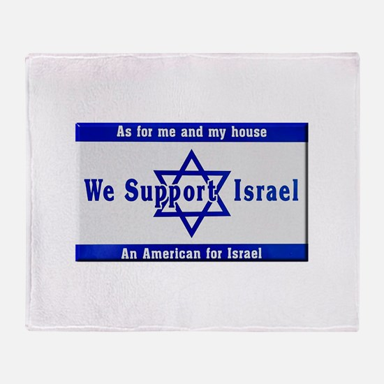 We Support Israel Throw Blanket