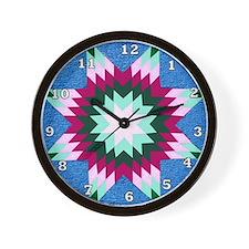 Star Quilt Wall Clock