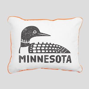 Minnesota Loon Rectangular Canvas Pillow