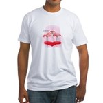Valentine Flamingos Fitted T-Shirt