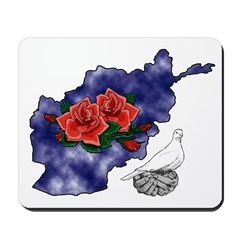 Map/Roses/Dove Mousepad