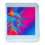 Pop Art Statue of Liberty baby blanket